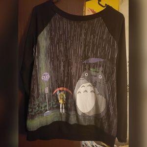 Totoro long sleeve sweater